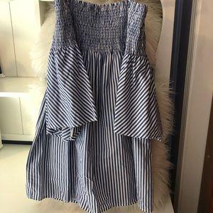 Zara off the shoulder mini dress